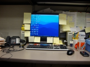 Clean desk. I feel successful.