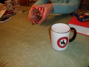 Hot chocolate with Bailey's . Check out the action shot!