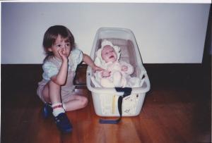 Libby and Me, circa 1984.