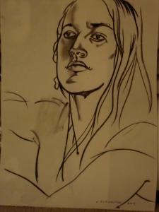 Drawing by Konstantine Berkojsia