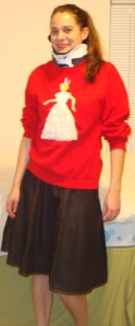 Sorry it's blurry. And you can't see the socks and shoes.