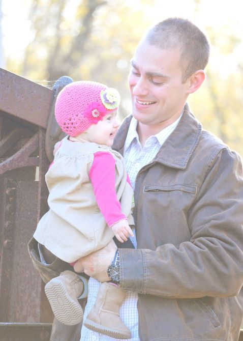 Jeremy and his daughter, Makinley. Photo credit: Melissa Ammerman Photography
