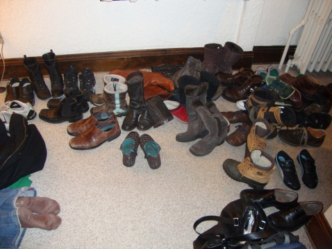 A houseful of shoes = love.