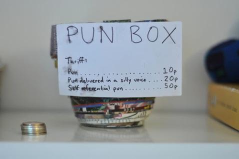 Pun box Photo credit: Ian McKinnon via Flickr/Creative Commons