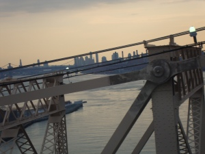 View at dusk from the Tram from Roosevelt Island.