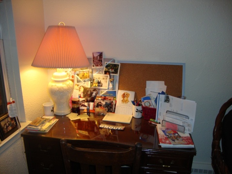 I have a beautiful writing desk that, when cleared off, is the perfect place to craft a story.