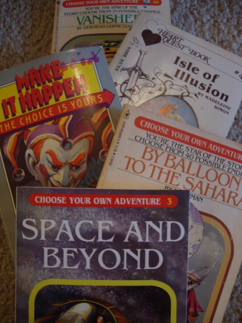 CYOA books people have given me.