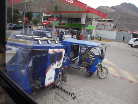We saw these motorcars all over Urubamba.