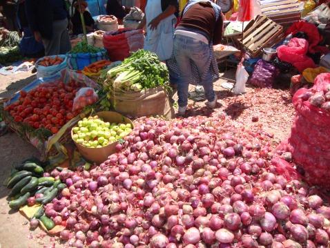 Potatoes at el Mercado de Miercoles.