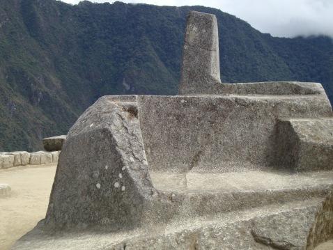 Magnetic Rock, Machu Picchu. Doesn't it look like a bench?