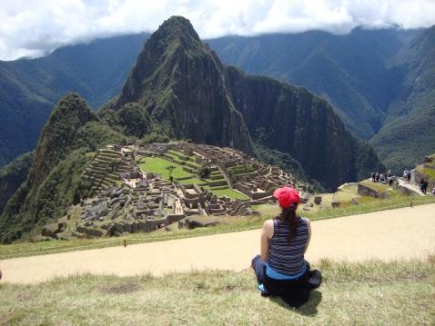 Contemplating Machu Picchu.