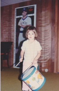 "This was around the time of the ""boy haircut."" But I am wearing pink, so you know I am a girl. Also, Go Brewers!"