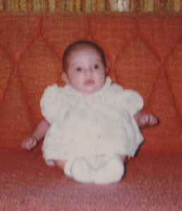 Me, five weeks old and well before I needed my first haircut. I think I look pretty good bald. Bald and free. Maybe this is why people say I look like my dad?