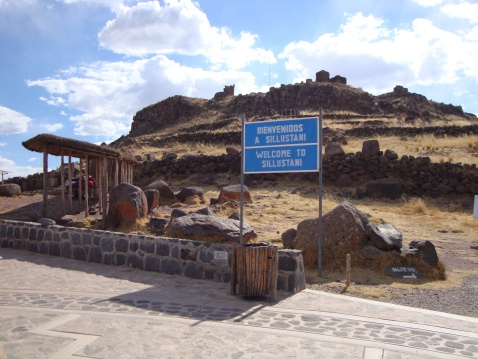 This is at the base of the Sillustani Tombs, a pre-Inca site.