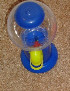 The gumball machine that started it all. If you look closely, you can see a gumball inside.