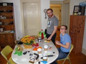 My sister and brother-in-law after I took over their apartment and started using all of their tools, doodads, and creativity. They were very generous.