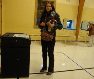 Tom Ser-Voted! Thanks to the woman at the polling place who took my picture.