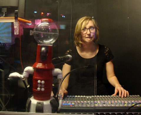 "Tom Servo: Techie.  ""Live long and cut high!"""