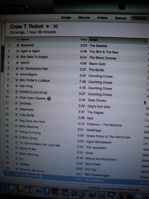 Crow's Playlist
