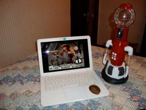 Tom Servo and I caught part of the MST3K Turkey Day Marathon. It was great.