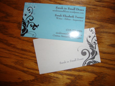 My business card! I am legit!