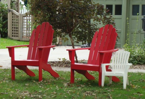 """This was the one where the kids said """"some woman is taking pictures of our house."""" I just had to get the kiddie Adirondack chair, though."""