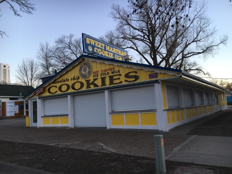 Sweet Martha's is a State Fair favorite for many. You can get an entire tub of freshly baked cookies, all melting together.